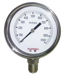 capsule pressure gauge for low pressure range